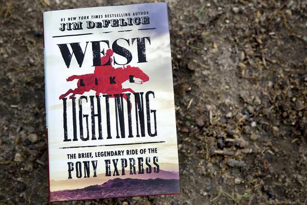 """West Like Lightning,"" by Jim DeFelice. (Robin Lubbock/WBUR)"