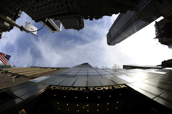 A view of the Trump Tower on 5th Avenue in New York on April 14, 2011.