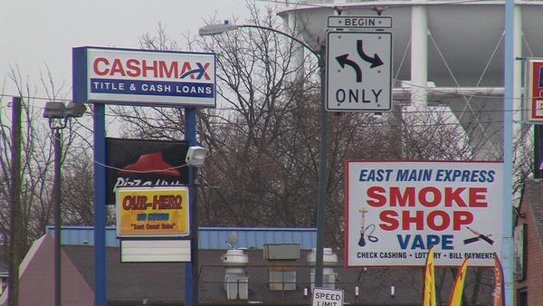 Several payday lending stores can be spotted on portions of Main Street in Springfield.