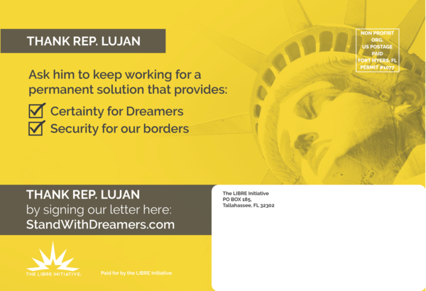 The LIBRE Initiative, which is part of the Koch network's advocacy for typically conservative causes, has found reason to praise Democrats like Rep. Ben Ray Luján of New Mexico on immigration.