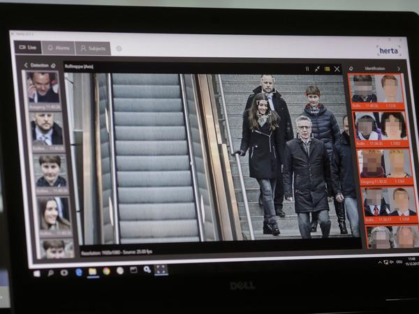 North Korea has been secretly selling facial recognition software, a new report states. This photo shows a German official identified by a computer with an automatic facial recognition system that was not mentioned in the report.