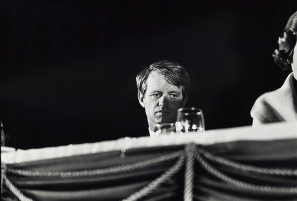 Presidential candidate Kennedy during a campaign event at the Biltmore Hotel in Phoenix in 1968.