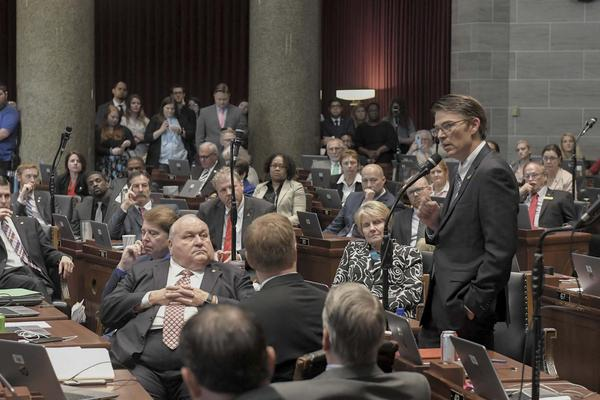 Missouri House Speaker Todd Richardson addresses the House on the final day of the legislative session.