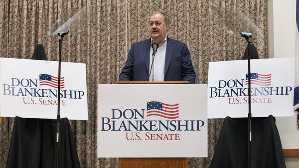 Former Massey CEO and West Virginia Senatorial candidate, Don Blankenship, speaks during a town hall to kick off his GOP campaign in Logan, W.Va., on Jan. 18, 2018. After losing the Republican primary, Blankenship says he'll run under the Constitution Party banner.