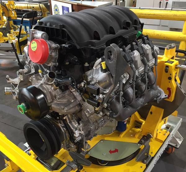 One of the engines that will be produced at General Motors' Tonawanda Engine Plant was on display during the announcement Monday morning that the local facility will be the automaker's first to do so. 5.3-liter and 6.2-liter models will be made in Buffalo