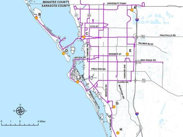 Sarasota County has identified seven north county pick-up spots for residents needing help with evacuations.