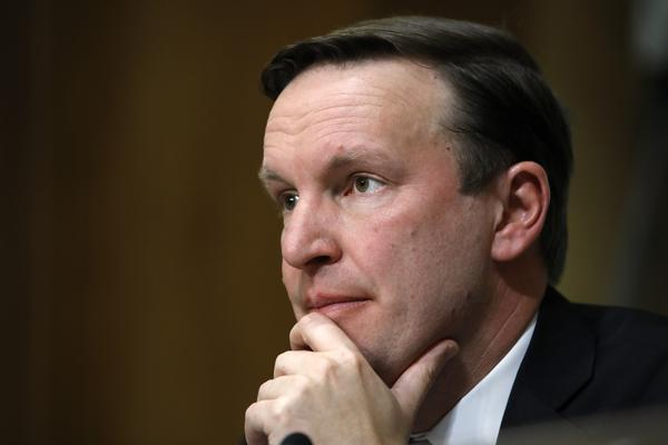 Sen. Chris Murphy, D-Conn., listens to testimony during a Senate Foreign Relations Committee hearing in April on Capitol Hill in Washington.