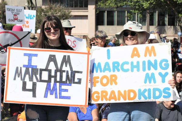 Thousands of protestors packed Poynter Park in St. Petersburg for the March For Our Lives rally.