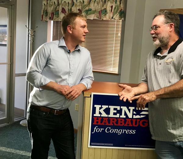 Ken Harbaugh spent much of the town hall talking about accessibility to constituents, the shrinking middle class and responding to questions ranging from gun laws to healthcare.