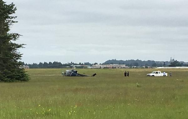 A Bell UH-1H helicopter operated by Northwest Helicopters crashed at Olympia Airport.