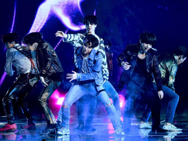 K-pop superstars BTS, performing at the Billboard Music Awards in Las Vegas on May 20.