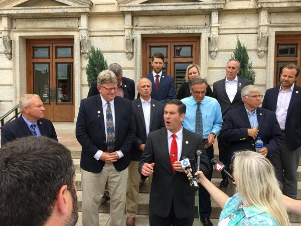 Republican Representative Craig Riedel and other GOP lawmakers
