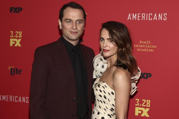 "Keri Russell, right, and Matthew Rhys attend the premiere of FX Networks' ""The Americans"" final season at Alice Tully Hall on Friday, March 16, 2018, in New York. (Andy Kropa/Invision/AP)"