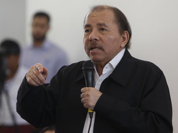 President Daniel Ortega speaks at the opening of a national dialogue in Managua earlier this month. The conference, in which Ortega sat down for formal talks with opposition and civic groups, did little to slow the bloodshed still unfolding.