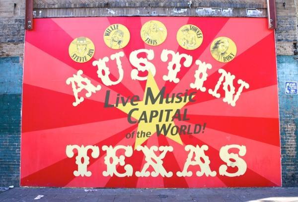 A sign around Austin, Texas.