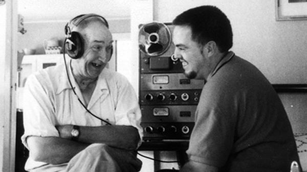 Alan Lomax (right) with musician Wade Ward during the Southern Journey recordings, 1959-1960.