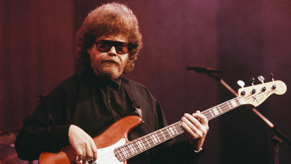 """Donald """"Duck"""" Dunn onstage about 1990."""
