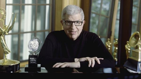 Marvin Hamlisch, with some of his many awards.