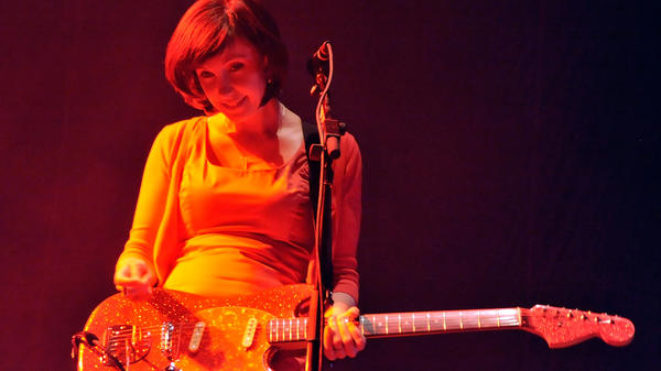My Bloody Valentine's Bilinda Butcher during the band's set at Coachella in 2009.