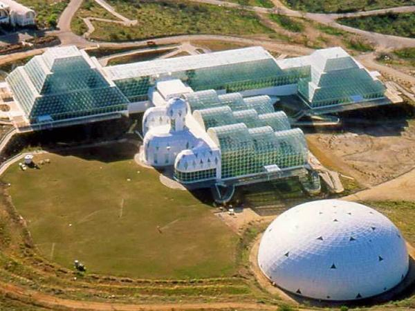Aerial view of Biosphere 2, where Jane Poynter lived for two years and 20 minutes.