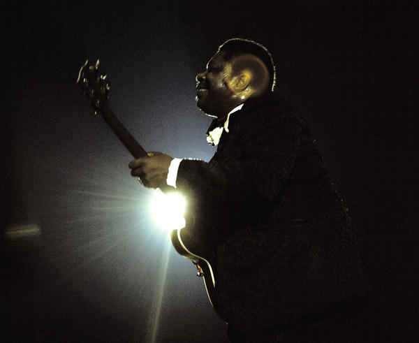 B.B. King performs at the Newport Jazz Festival at Yankee Stadium in 1972 (the festival temporarily relocated to New York in the 1970s).
