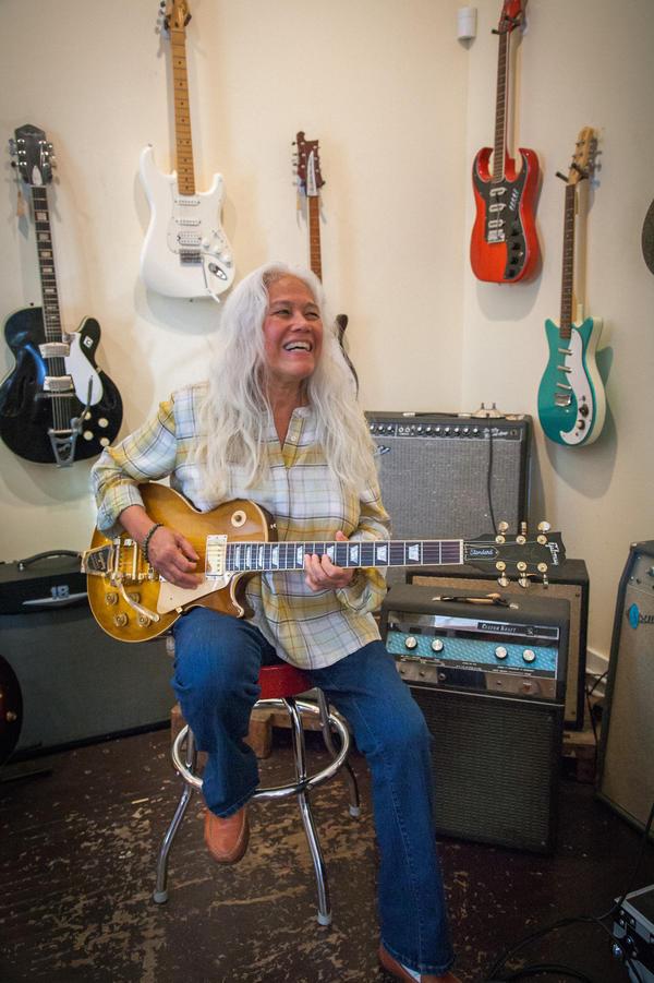 June Millington at Fanny's House of Music in East Nashville.