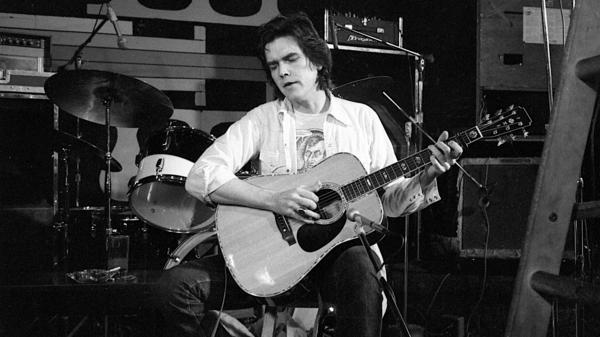 A young Guy Clark in the documentary <em>Heartworn Highways</em>.