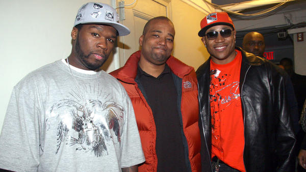 Chris Lighty's celebrity clients included 50 Cent and LL Cool J, who he's spotted with in 2006 at BET UpFront in New York's Manhattan Center Studios.