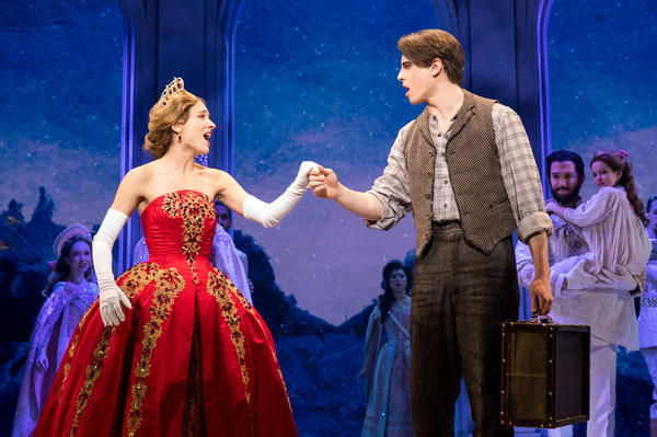 Christy Altomare and Derek Klena star in the stage adaptation of the 1997 Fox animated film <em>Anastasia</em>.