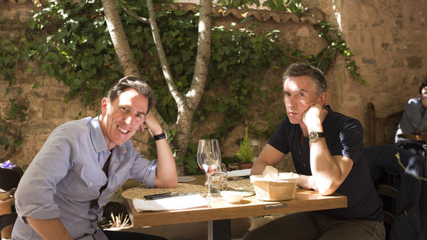 Rob Brydon (left) and Steve Coogan improvise exaggerated versions of themselves in <em>The Trip to Spain.</em>