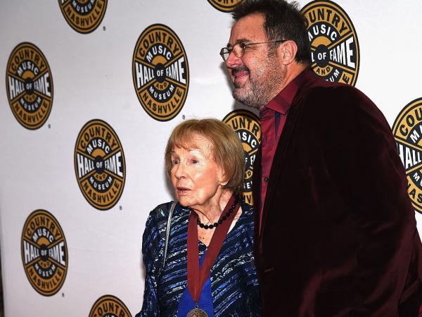 Jo Walker-Meador and Vince Gill at the Country Music Hall of Fame Medallion Ceremony in Nashville, Tennessee in 2015.