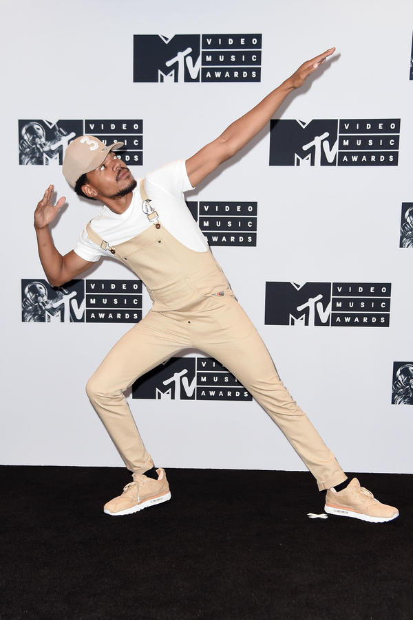 Chance the Rapper, at last year's MTV VMAs, where his #BlackBoyJoy was quite palpable.