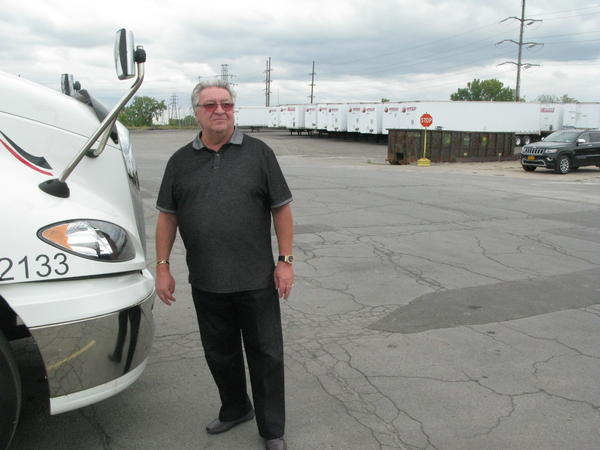 Carl Savarino is president of Buffalo's Speed Global Services, which operates eight trucks a day across the border into Canada.