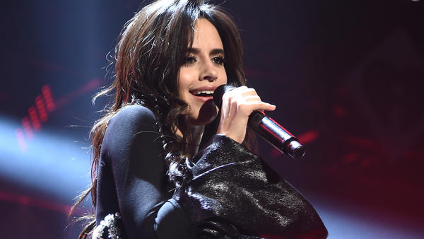Camila Cabello on stage in December during Z100's Jingle Ball in New York City.