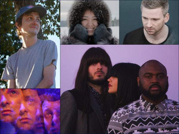 Clockwise from upper left: Ari Roar, Beatrice Deer, Ólafur Arnalds, Khruangbin, Whyte Horses