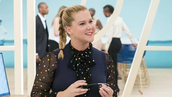 Amy Schumer stars as a woman who acquires a boost of self-confidence after a bump on the head in <em>I Feel Pretty</em>.
