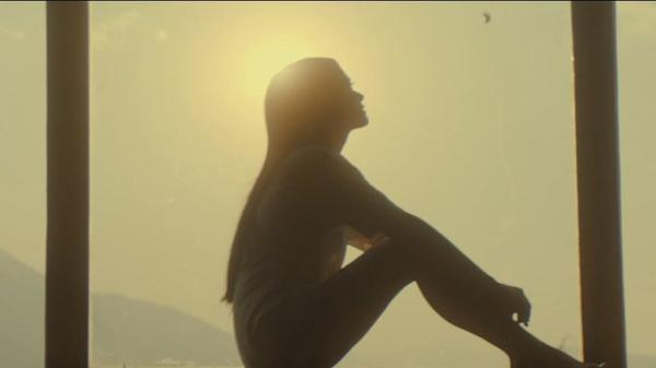 "A still from Kacey Musgraves' ""Space Cowboy"" video."