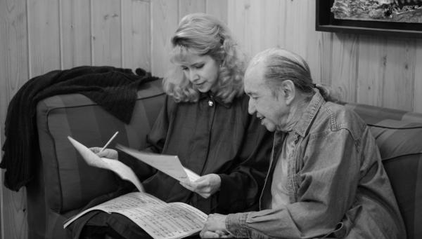 Singer Nellie McKay with her longtime friend, Bob Dorough. The late composer was known as the musical keystone of the beloved <em>Schoolhouse Rock! </em>series.