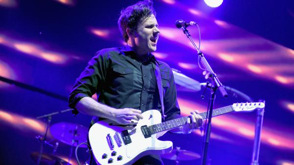 Jim Adkins of Jimmy Eat World performs at KROQ Almost Acoustic Christmas in 2016.
