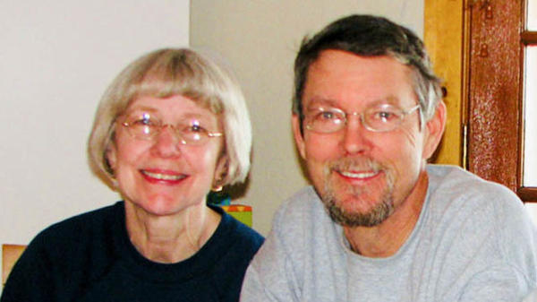 Ginnie and Matt Peters on vacation in February 2011, a few months before he died by suicide.