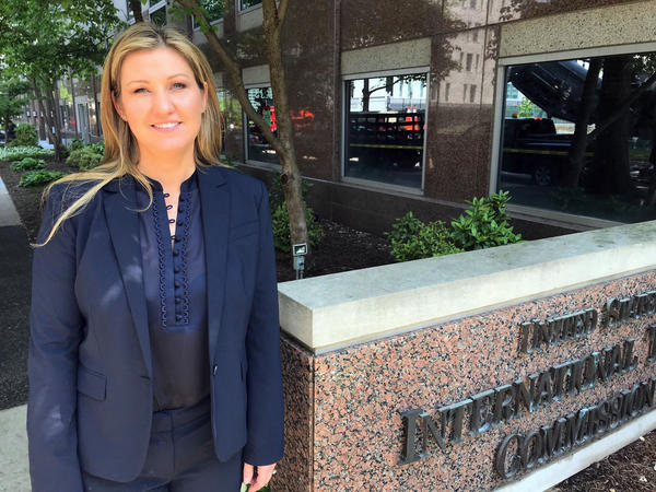 Mary Buchzeiger, CEO of Lucerne International, says President Trump's proposed tariffs on imports could destroy her Michigan-based company, which supplies automakers with parts mostly made in China. This week, she presented her case for an exemption from the tariffs at the International Trade Commission building in Washington, D.C.