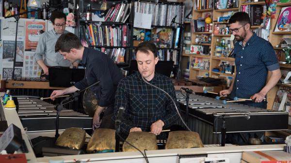 Third Coast Percussion performs a Tiny Desk Concert on April 27, 2018.