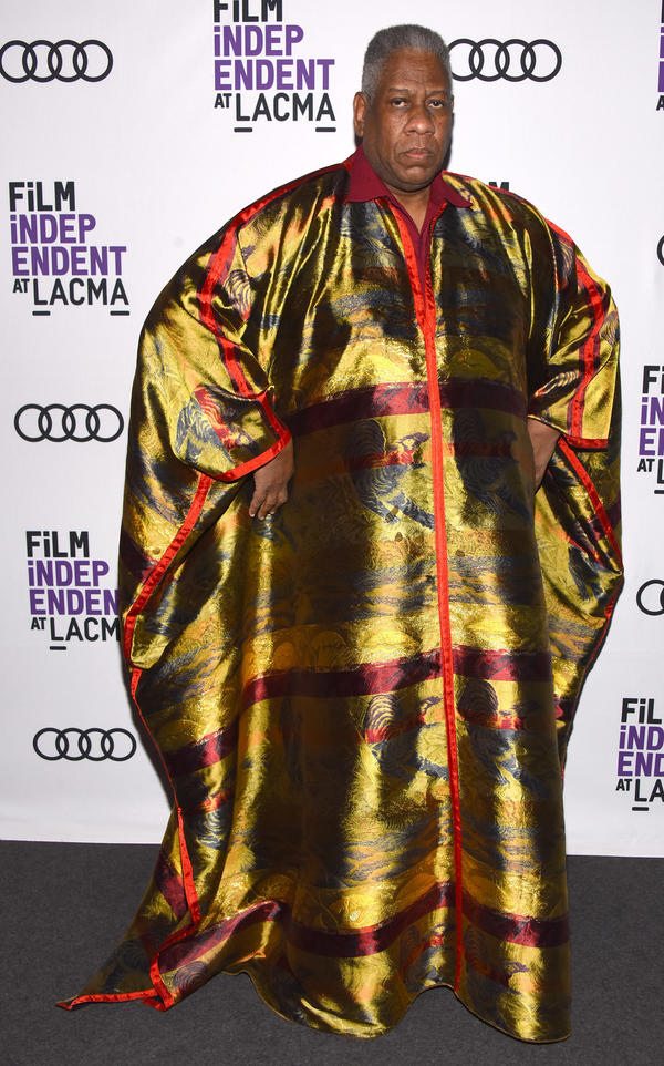 Talley attends a screening of the film in one of his signature caftans.