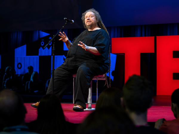 Jaron Lanier on the TED stage.