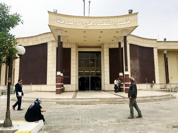 The court in Baghdad where Iraq is trying suspects on terrorism charges. The defendants include more than 500 foreign women married to ISIS fighters.