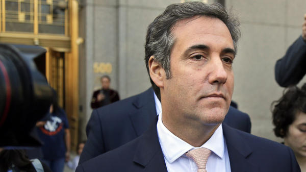 Michael Cohen, a personal lawyer for President Trump, leaves federal court in New York City in April. His legal troubles may test his loyalty to Trump, which has been built over years of protecting his boss in part by using legal threats.