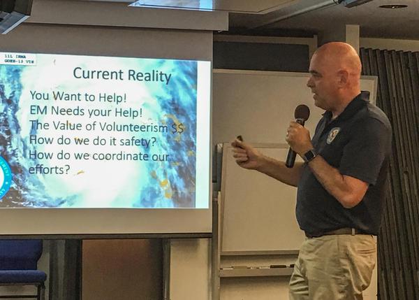 Monroe Emergency Management Director Martin Senterfitt meets about the Keys Emergency Reserve Corps