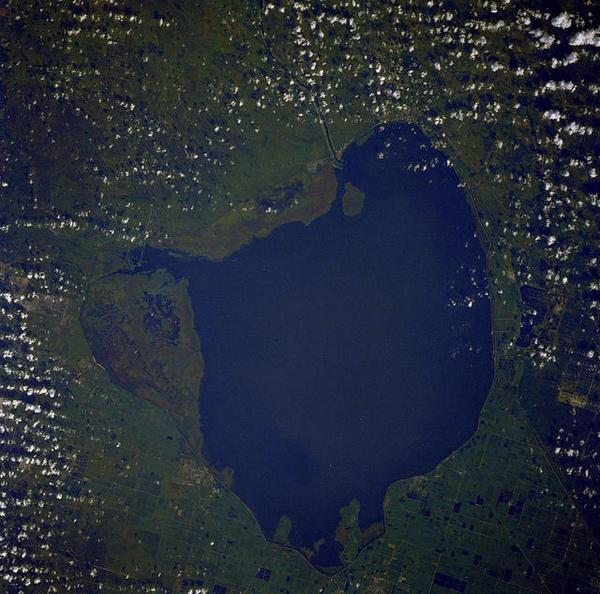 Lake Okeechobee from above.