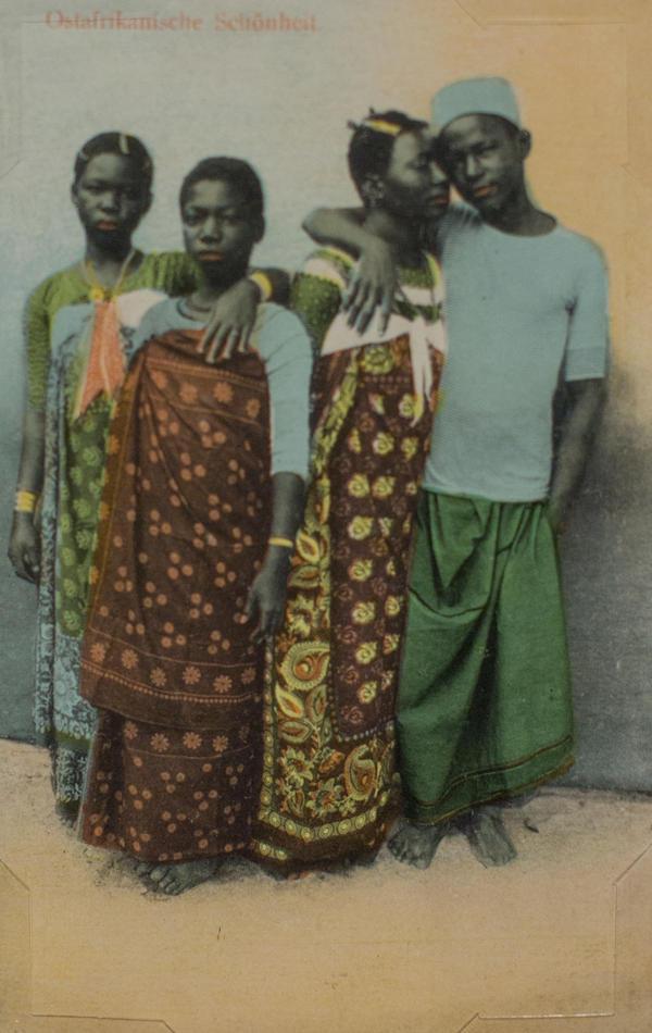 <em>Ostafrikanische Schonheit</em> (present-day Tanzania) by J.P. Fernandes. Photograph taken before 1900; postcard printed circa 1912.