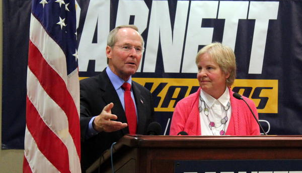 Jim Barnett, an Emporia physician and former state lawmaker, named his wife, Rosemary Hansen, as his choice for lieutenant governor.